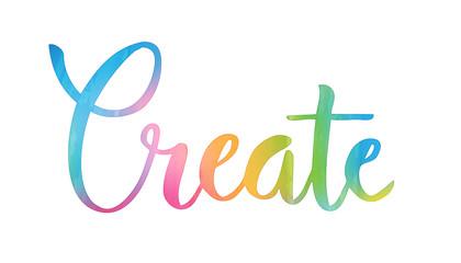 CREATE hand lettering icon © treenabeena