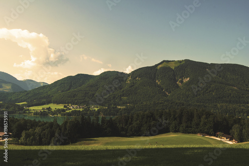Fotobehang Beige Fuschl Austria