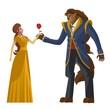 Постер, плакат: classic tale of princess and beast