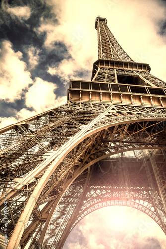 Aluminium Eiffeltoren veduta vintage della Torre Eiffel