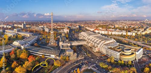 Canvas Berlijn Funkturm in Berlin Charlottenburg