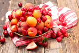 cherry fruit and apricot