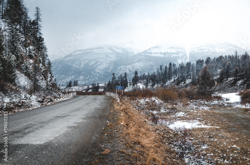 Foto op Aluminium Cappuccino Road in the mountains