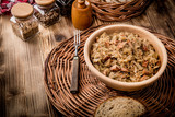 Bigos - stewed cabbage with meat,dried mushrooms and smoked sausage. - 198611912