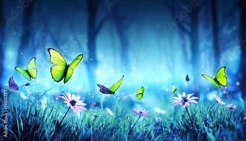 Fairy Butterflies In Mystic Forest  - 198617333
