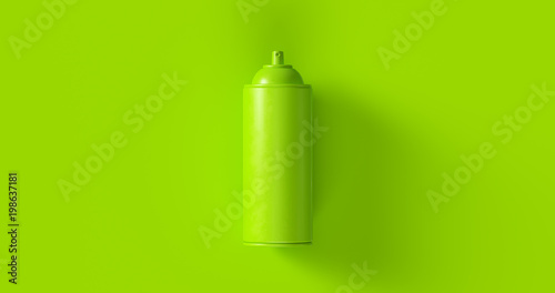 Aluminium Graffiti Green Spray Can 3d illustration