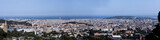 Fototapeta Panorama of the city of Barcelona,Spain