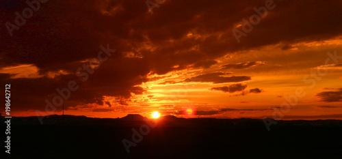 Plexiglas Rood paars Sonnenuntergang - Abendrot