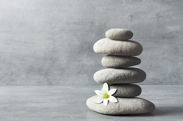 Stones balance. Zen and spa concept. © Belight