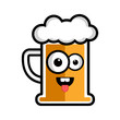 Happy beer cartoon character - 198660926