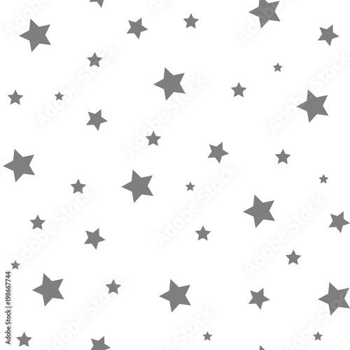 Seamless Star Monochrome Background. Stars seamless pattern - 198667744