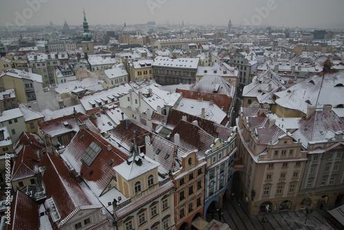 Poster Praag Prague Czech Republic in Winter