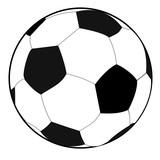 Schwarzweißer Fußball, Grafik, weißer Hintergrund