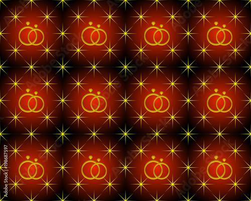 rocznica wzór tła w kształcie gwiazdy i pierścionek z brylantem