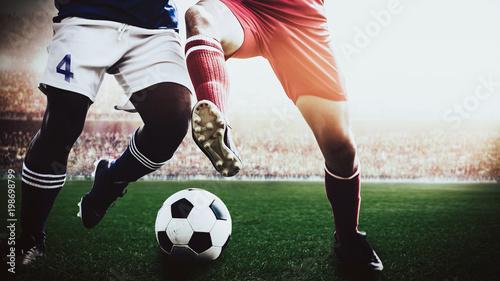 soccer footballer during match in the stadium