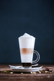 Latte with chocolate and cardamom