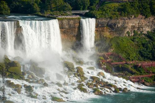 Canada, Niagara falls, travel, attractions, city, water, river, sky, nature, rainbow