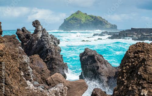 Foto op Aluminium Cappuccino Insel Roque de Garachico, Garachico, Teneriffa, Spanien