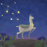 llama, who was caught in the constellation - 198736941