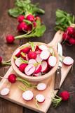 Fresh organic radishes - 198742776