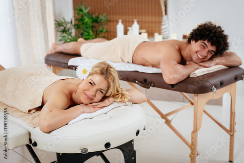 Couple In The Spa Centre