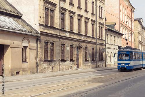 Foto op Plexiglas Krakau old tenements in the historic part of Krakow.