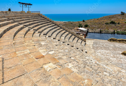 Fotobehang Cyprus Ancient amphitheater in Kourion, Cyprus