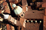Aerial view of old city in daylight. Bologna, Italy - 198772502