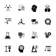 Scientific discovery icon set. Can be used for topics like development, experiment, science, chemistry