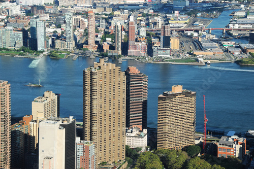 Foto op Plexiglas New York high angle view of New York skyscrapers