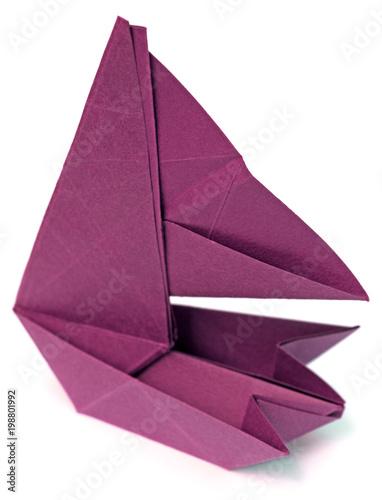 katamaran, origami en papier bristol