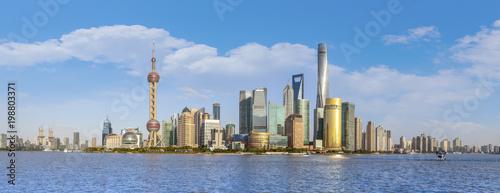Fotobehang Shanghai Skyline of urban architectural landscape in Shanghai