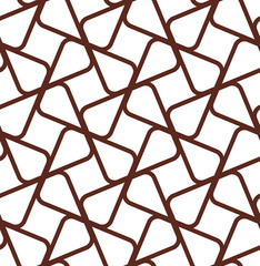 The geometric pattern with lines. Seamless vector background. White and brown texture. Graphic modern pattern