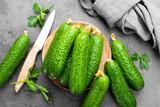 Fresh cucumbers - 198808574