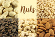 Collage of assorted nuts. - 198821789