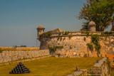 Fortaleza de San Carlos de La Cabana, Fort of Saint Charles entrance. Havana. Old fortress in Cuba