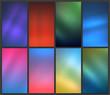 Blurred backgrounds set - 198829792