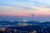 火の山公園から見る夕暮れ