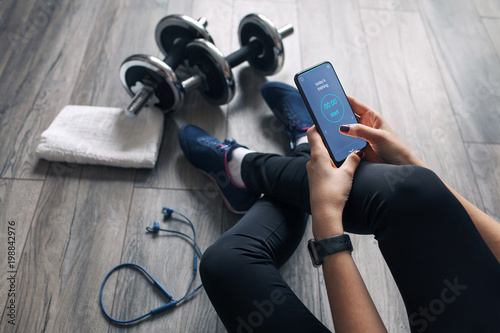 Poster girl uses fitness app
