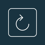 Reload icon line symbol. Premium quality isolated refresh right element in trendy style. - 198845163