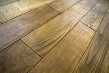 Natural brown texture wooden parquet floor boards - 198845325