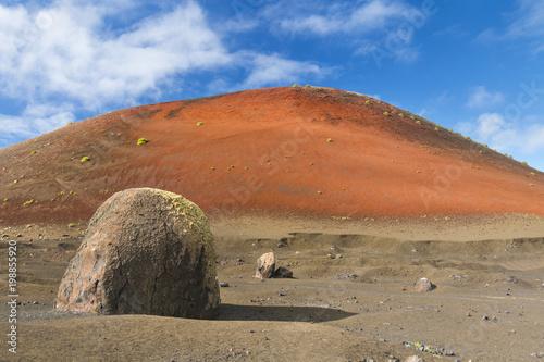 Deurstickers Canarische Eilanden Volcano Landscape In Lanzarote, Spain
