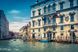 Traditional view of the street in Venice, Italy
