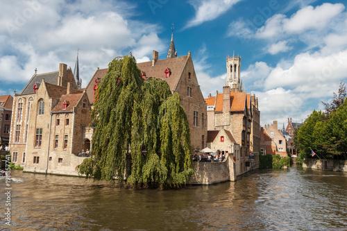 Foto op Canvas Brugge Architectural sights of Bruges.