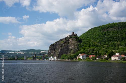 Leinwanddruck Bild Burg Strekov, Tschechien
