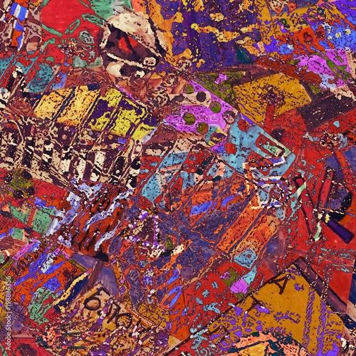 Fotobehang Graffiti Light Distressed Background. Ink Print Distress Background. Grunge Texture.