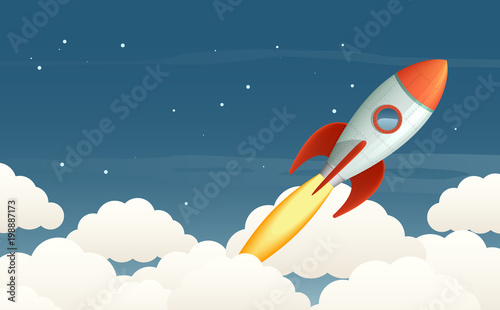 Fototapeta Launching rocket