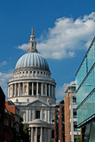 A view of historic St Paul's Cathedral in London, England.