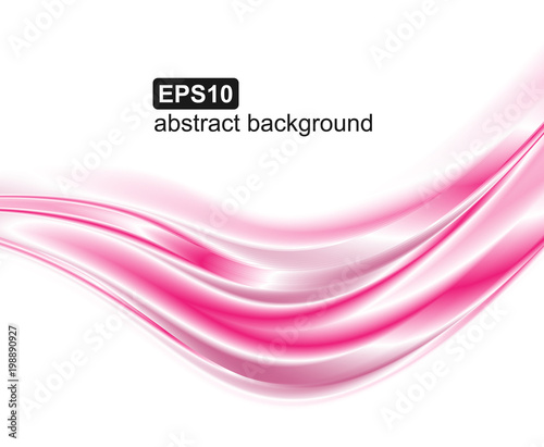 Vector abstract pink waves background.
