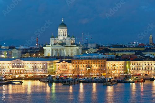 Night view of Helsinki, Finland
